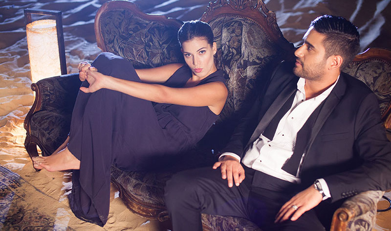 Hezi Lahav and Natalie Dadon during the clip`s filming