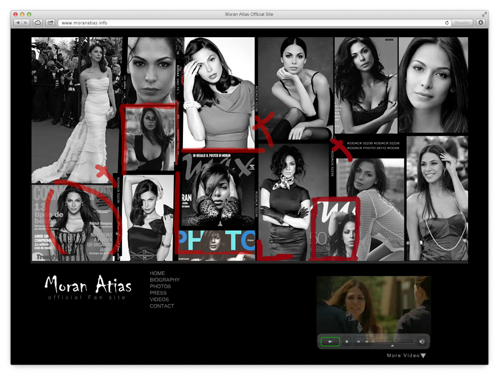 Creating a web site that would present the activity of the actress, Moran Atias.