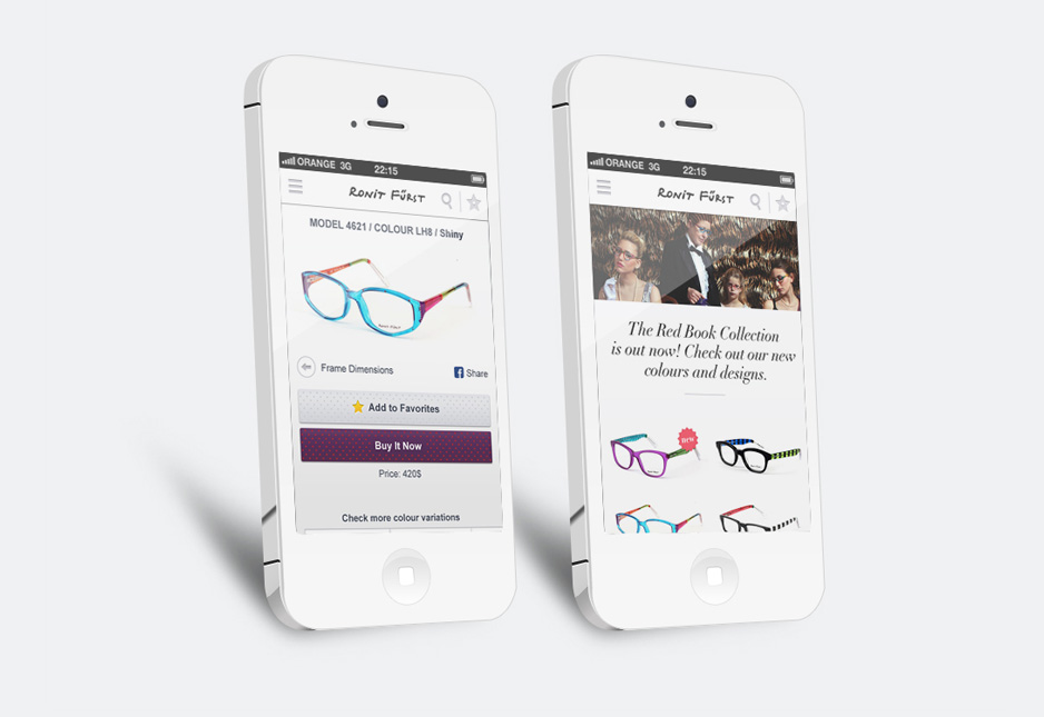 Online Mobile catalog - User experience and convenient purchase