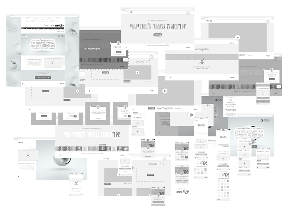Designing interfaces  of the activity for all platforms