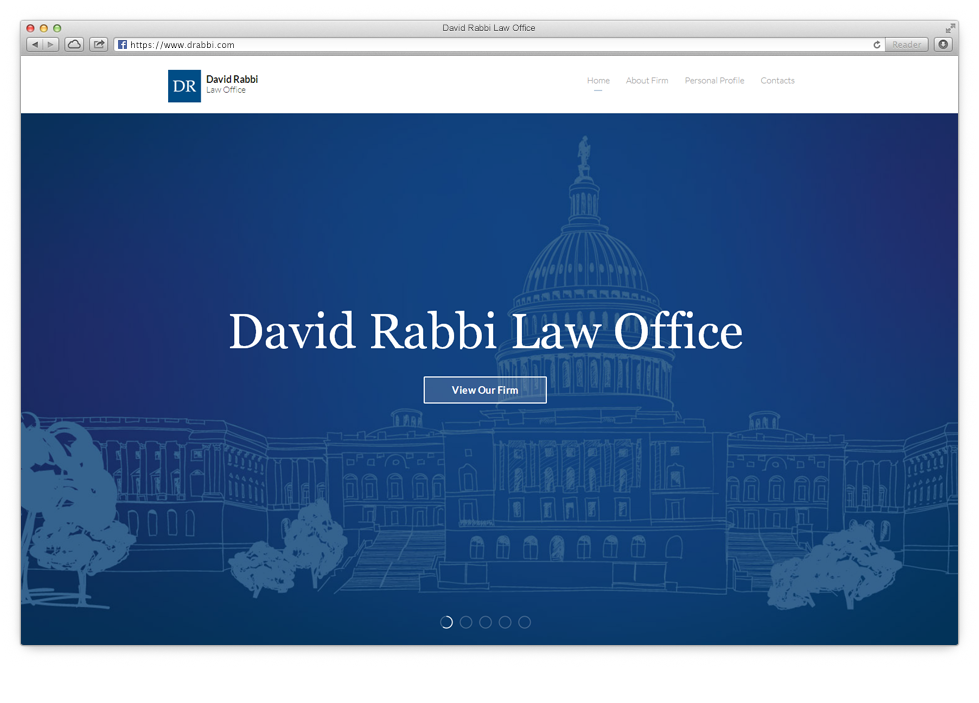 Displaying the activities of the David Rabbi law firm.
