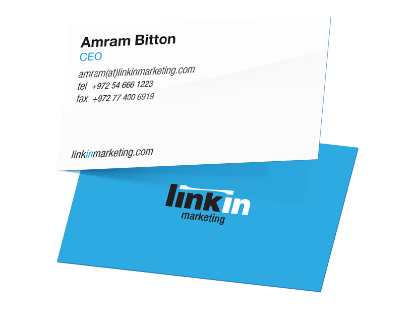 Designing business cards according to the company's values