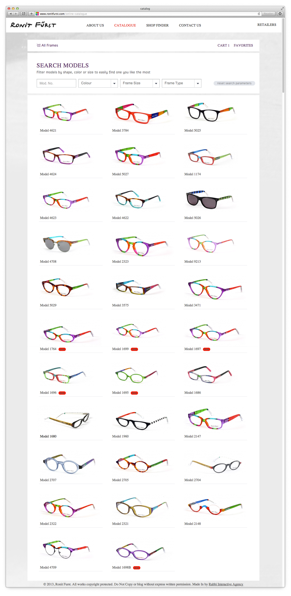 Viewing the Complete Glasses Catalog That Is Intelligently Updated in Real Time