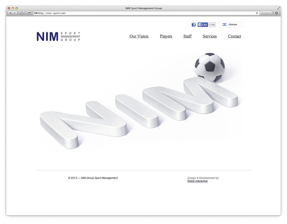 Nim Sport Group homepage