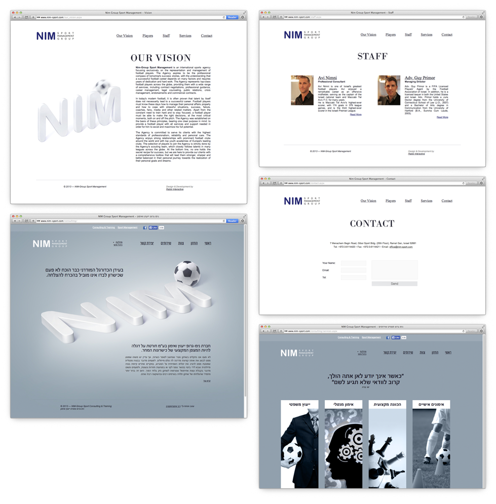 Nim Sport Group website